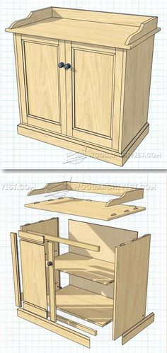 Washstand Plans - Furniture Plans and Projects | WoodArchivist.com