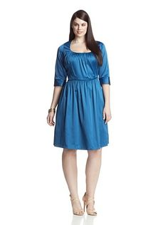 68% OFF Melissa Masse Plus Women's Scoop Neck Dress