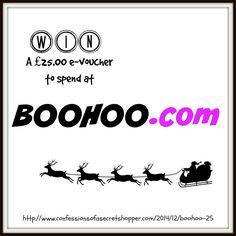 Win £25.00 e-voucher to spend at Boohoo.com