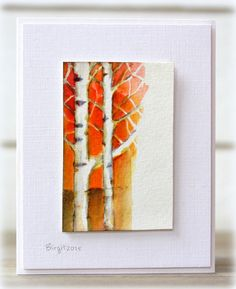 Rapport från ett skrivbord: Less is More 227 Tree Stencil, Penny Black Cards, Card Tags, Men's Cards, Diy Cards, Greeting Cards, Nautical Cards, Scrapbooking, Watercolor Cards