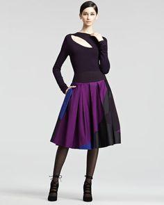 Pleated+Taffeta+Skirt+by+Donna+Karan+at+Neiman+Marcus.