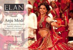 ELAN Fashion Store, Ahmedabad (Hill Plaza, Opp Sears Tower, Gulbai Tekra)   https://www.facebook.com/elanfashionstore August 27-28: ANJU MODI's 'Ram Leela' Collection plus Festive Kurtas and Lehengas