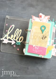 Mini album by jmpgirl ***Love the way to use pocket protectors for photos in fab way.