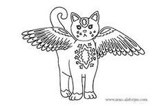 dibujos para dibujar gato volador Art Addiction, Dragon Ball Gt, Mexican Art, Line Patterns, Felt Art, Silhouette, Elementary Art, Adult Coloring Pages, Art Projects