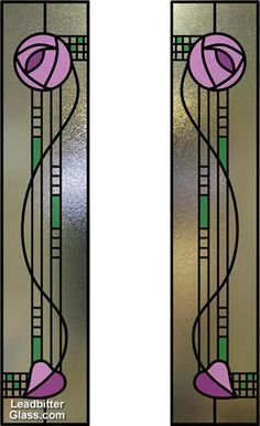 Art Nouveau Charles Rennie Mackintosh, In Fairyland, 1897 Stained Glass Door, Stained Glass Designs, Stained Glass Panels, Stained Glass Projects, Stained Glass Patterns, Leaded Glass, Mosaic Glass, Window Glass, Motifs Art Nouveau