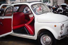 white Fiat red interior
