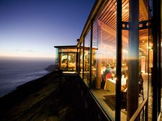SIERRA MAR, BIG SUR, CA | The stellar views don't even begin to tell the story here: This delectable dining destination is out of a dream, and attached to one of the chicest boutique hotels in all of America, Post Ranch Inn.