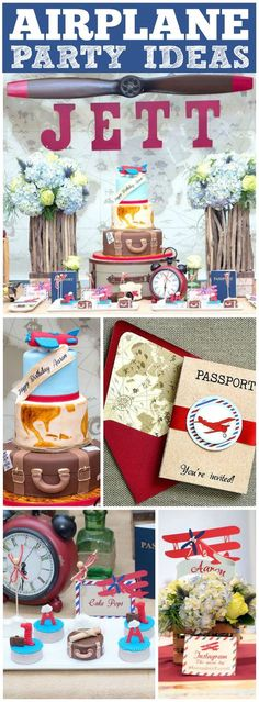So many great ideas at this vintage airplane first birthday party! See more party ideas at CatchMyParty.com!