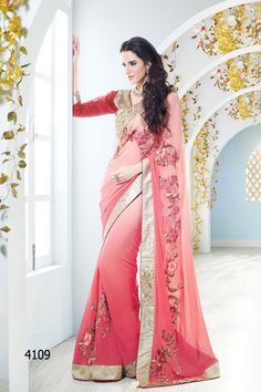 THAYARI.COM Fabulous Light Pink Designer Saree