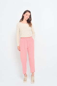 Pantalon estienne flamingo - pantalon - des petits hauts 1