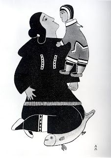 Affectionate Mother from Inuit Women Artists (Meeka) Arte Inuit, Inuit Art, Native Art, Native Indian, Inuit People, Art Area, Illustration Art, Book Illustrations, Art Themes