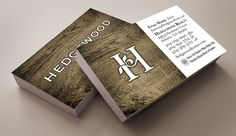 Hedgewood logo used on business cards for the Atlanta home builder.