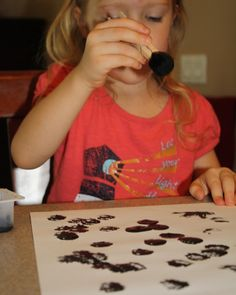 Paint with Pom Poms and Clothespins