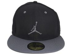 d74146d4551 Jumpman 2-Tone Graphite 59Fifty Fitted Baseball Cap by JORDAN BRAND x NEW  ERA Fitted
