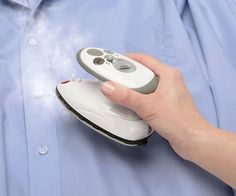 Mini Travel #SteamIron  Palm sized iron slightly larger than a computer mouse! #traveltuesday