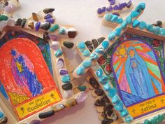 Have you guys seen these Catholic grotto craft kits yet? You can get them for Our Lady of Lourdes, Fatima, and Guadalupe. I personally feel like they make most since for Our Lady of Lourdes because…