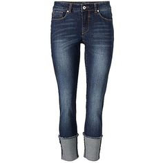 Heine Cropped Jeans (84 AUD) ❤ liked on Polyvore featuring jeans, pants, blue jeans and cropped jeans