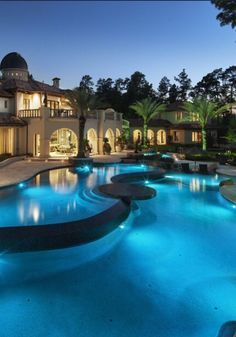 ~ Luxury Pools Archives - Modern Mansion with a Organic Shaped Pool ~ luxurydecor.org