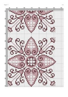 Biscornu Cross Stitch, Cross Stitch Bookmarks, Beaded Cross Stitch, Cross Stitch Borders, Cross Stitch Rose, Cross Stitch Flowers, Cross Stitch Charts, Cross Stitch Designs, Cross Stitching