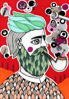 Mechanical thinking (cliche man)