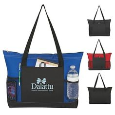 Promotional Voyager Tote Bag   Customized Voyager Tote Bag   Logo Polyester Totes