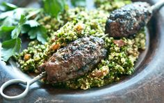 These aromatic grilled kabobs made with ground beef are a wonderful way to enjoy the full flavor of grass-fed beef. Serve with tabbouleh.