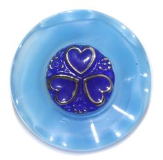 CZ Moonglow Glass 2-Piece Button '2000' Medium by KPHoppe on Etsy  http://www.hoppeglass.com