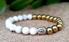Buddha Bracelet, Buddhist Bracelet, Prayer Yoga Bead, Mens Gemstone Buddha Jewelry, Christmas Gift Men, Grounding, Patience, Positive Energy by Braceletshomme