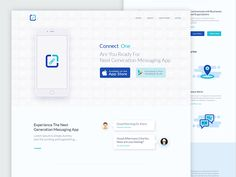 Connect One Landing Page by Swayam Tech Lab
