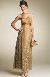 gold colored bridesmaid dresses | ... Bridesmaids and the Maid of Honor, these are the girls in the wedding