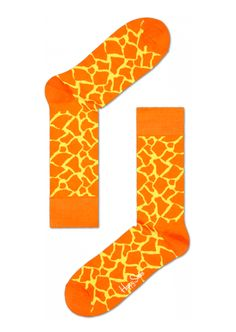 Fun socks at Happy Socks for happy people! Orange Giraffe print