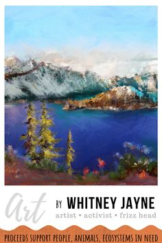 Crater Lake is a fascinating, must-visit Oregon destination, with water as blue as it gets. This is part of my 7 wonders of Oregon art print collection. Collect them all, or give them as gifts to your Oregon lover or nature loving friends! Oregon art, seven wonders of Oregon, Pacific Northwest art,  #oregonart #sevenwondersoforegon #craterlake #nationalpark #craterlakenationalpark
