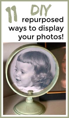 9 Creative Ways to Display Photos Display Family Photos, Old Family Photos, Steampunk Crafts, Repurposed Items, Repurposed Furniture, Farm Photo, Diy Signs, Farmhouse Chic, Diy On A Budget
