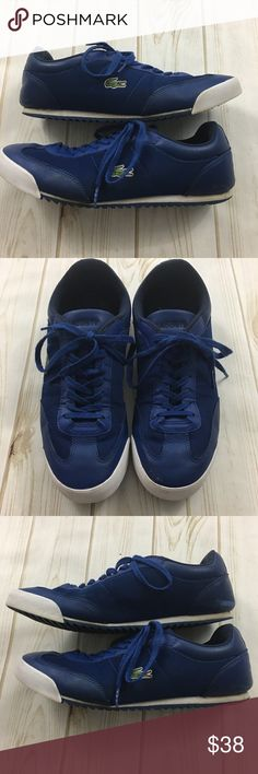 818ce2796 LACOSTE Men s Low Top Blue Shoes Men s Size 9 LACOSTE Men s Low Rise Blue  Leather And