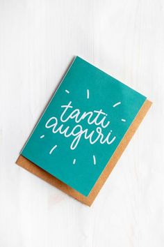 ffecdf8c4c Say best wishes the Italian way with this exclusive Tanti Auguri greeting  card.