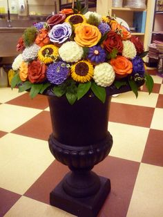 Cupcake Bouquet in a Vase
