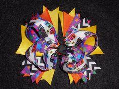 Halloween Trick or Treat Boutique Hair Bow with Matching Headband, Handmade #Handmade