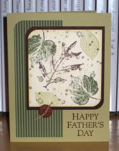 SU French Foliage Father's Day card
