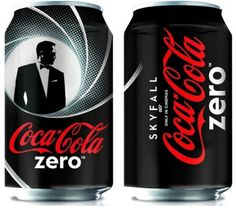 dd3a887f160 Coca-Cola has unveiled a limited edition design for their Coke Zero bottles  and cans in celebration of Skyfall, the installment of the James Bond  series.