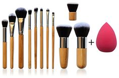 Best price on *NEW* 11 Piece Professional Makeup Brush Set with Premium Synthetic Hair and Natural Bamboo handles for Face, Cheeks and Eyes, plus includes a BONUS Complexion Beauty Blender!  See details here: http://bestmakeupopinion.com/product/new-11-piece-professional-makeup-brush-set-with-premium-synthetic-hair-and-natural-bamboo-handles-for-face-cheeks-and-eyes-plus-includes-a-bonus-complexion-beauty-blender/    Truly the best deal for the brand new *NEW* 11 Piece Professional Makeup…