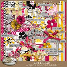 Shine - Full Kit by K Studio #kstudio #scrapbooking #digitalscrapbooking