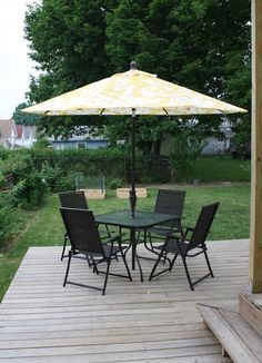 A great DIY how-to on making old deck furniture look better.