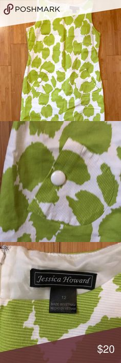 Jessica Howard Shift Dress This listing is for a Jessica Howard green and white shift dress with pocket detailing. It is a size 12 Jessica Howard Dresses