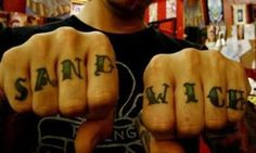 A Plethora Of Punny Tattoos- another knuckle sandwich