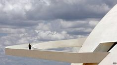 Oscar Niemeyer, Brazilian architect. Niemeyer said his stylised swoops were inspired by Brazilian women's curves.