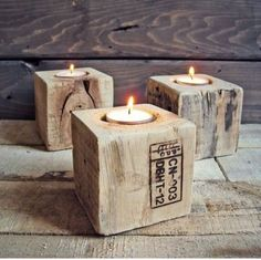 Industrial Upcycled Pallet Candle Holders in Coffee Tables | eBay