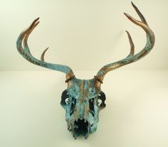 paint deer skull gold - Google Search