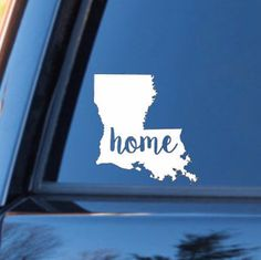 Louisiana Home Decal   Louisiana State Decal   Homestate Decals   Love Sticker   Love Decal   Car Decal   Car Stickers   Bumper   110