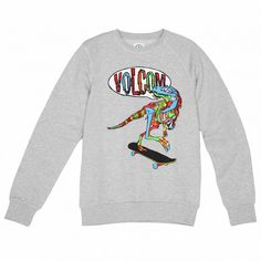 VOLCOM Youth Mondosaurus Crew Fleece heather grey sweat-shirt enfants 49,00 € #sweat #sweater #sweatshirt #sweatcrew #crewneck #fleece #youth #pull #pullover #skate #skateboard #skateboarding #streetshop #skateshop @April Gerald Skateshop