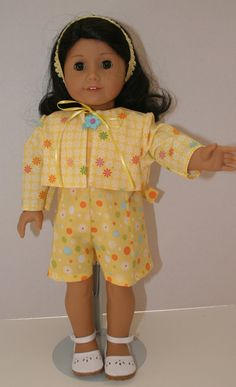 American Girl Doll Clothes  Print Romper and by KathiesDollCloset, $10.99